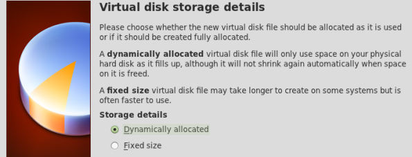 Selecting the disk type