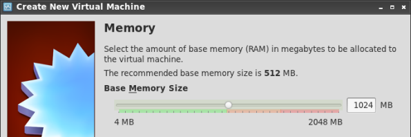 Setting the Virtual Machine's  memory